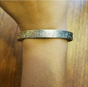 *RARE* Vintage Sterling Mexican Floral Bangle